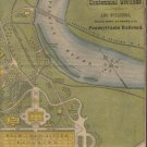 Fort Wayne & Pennsylvania Route Timetable Map, Centennial Exhibition c.1876