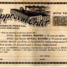 The Franklin Paint Co. of Cleveland Ohio Letterhead, Certificate & Envelope c.1922
