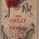 Pennsylvania Railroad Timetable Map, The Great Trunk Line c.1888