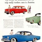 Vintage Studebaker Ad, Full Color Illustration c.1954
