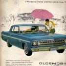 Oldsmobile F-85 Cutlass Ad, Color Illustration c.1962