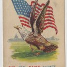Patriotic Postcard, Shows The American Flag and A Bald Eagle c.1918