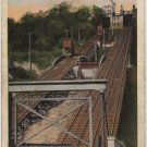 Cincinnati Ohio Postcard, Price Hill Inclined Plane, Rails and Tracks c.1920