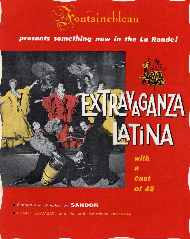 Hotel Fontainebleau Program, Extravaganza Latina & The Boom Boom Room c.1951