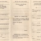 Mason's Documents from Mi-a-mi Lodge, Blank rite of passage Forms with Note  c.1948