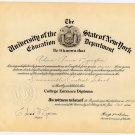 Vintage Delaware County New York Documents, School Flooded for Pepacton Reservoir c.1947