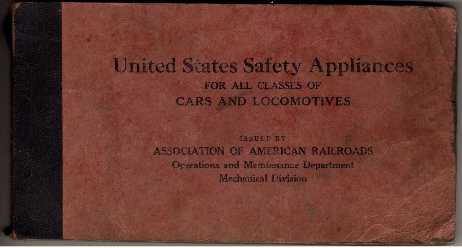 American Association of Railroads Safety Handbook c.1935