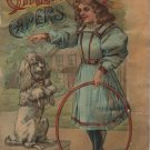 Carlos' Capers, Fannie Ostrander, Children's Book with Color Illustrations, Kids & Dogs c.1902