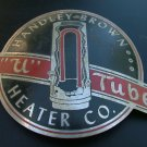 "Handley-Brown Heater Company, ""U"" Tube Water Heater, Art Deco Metal Nameplate c.1925"