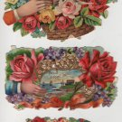 Antique and Vintage Valentines, Various Sizes, Collection of 55 Pieces, Full Color c.1890