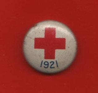 Red Cross Button, Red, White and Blue, Petite c.1921