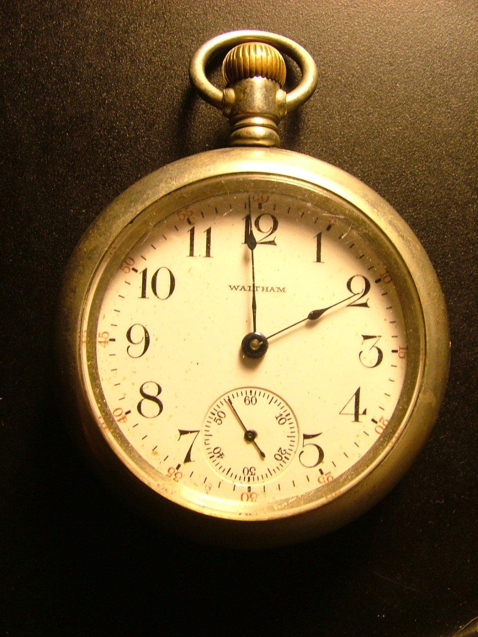 Waltham Watch Co. Men's Pocket Watch, s18 Silverode Case c.1904