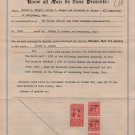 Deed & Documents for Outlot No. 167, Perrysburg Twp, Wood County Ohio, 7 Pieces c.1950