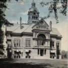 Adrian Michigan Postcard, Court House Building and Grounds c.1940