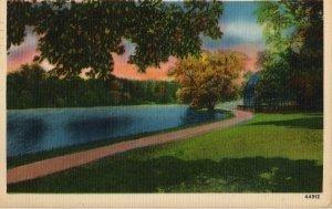 Rochester New York Postcard, Lake at Seneca Park c.1949