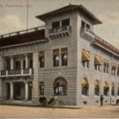 Pasadena California Postcard, City Hall and Carriage Workshop c.1910
