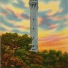 Provincetown Massachusetts Postcard, Pilgrim Memorial Monument, Town Hill c.1953