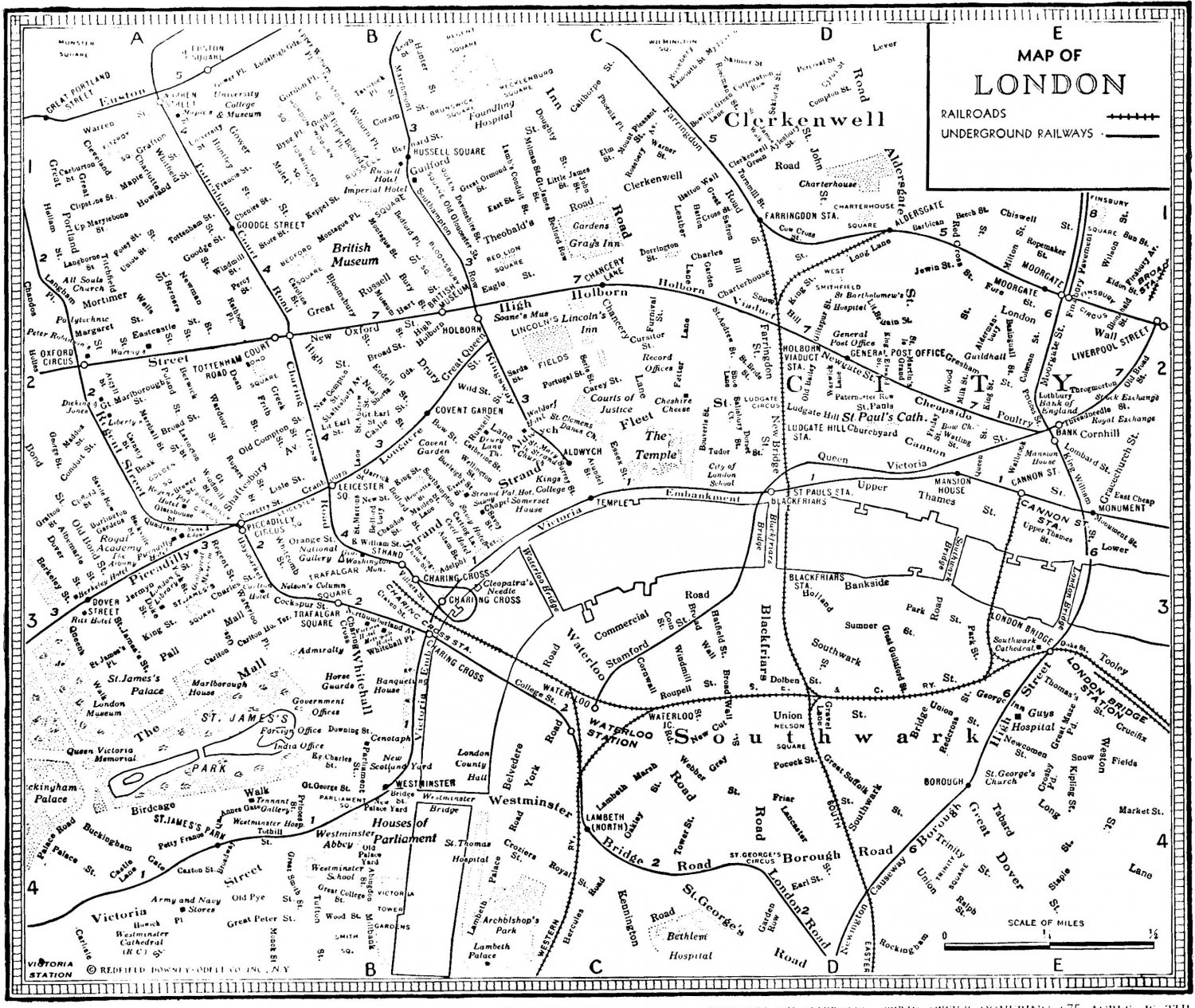 London Map Black And White