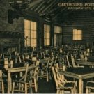 Mackinaw City Michigan Postcard, Interior of Greyhound Post House c.1950
