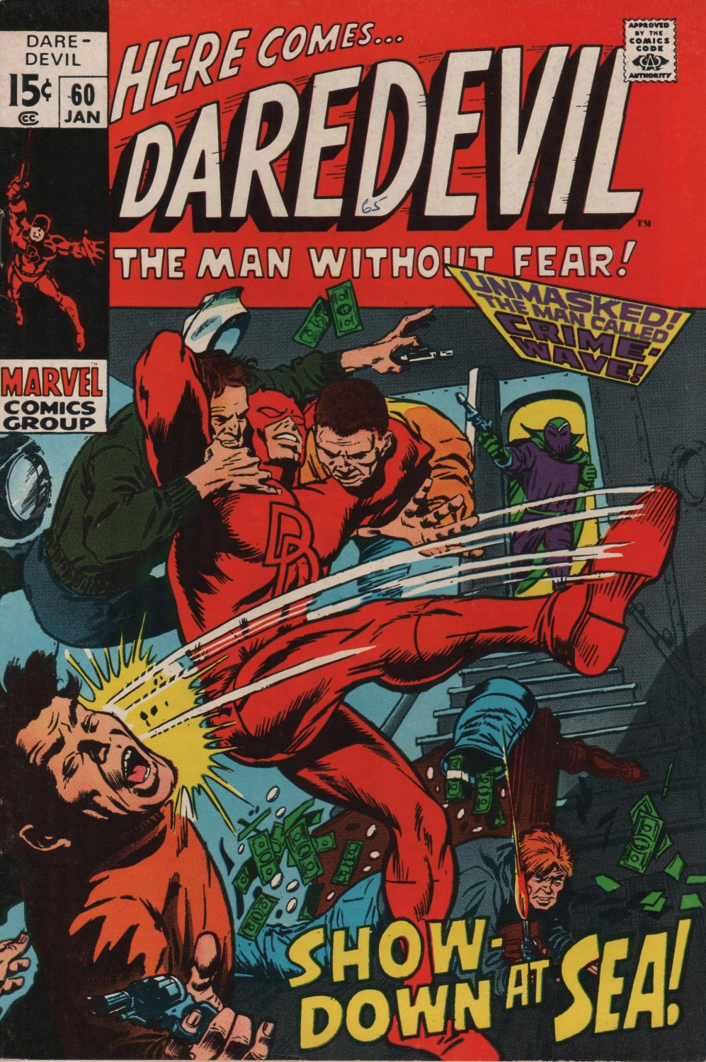 Daredevil #60 Show Down at Sea! c.1969