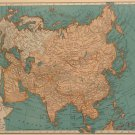 Map of Asia, Rand McNally for Collier's World Atlas, Four Color c.1949