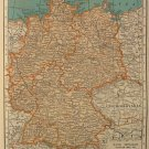 Map of Germany, Rand McNally c.1949
