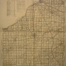Map of Wood County Ohio, Black & White, 17 x 22 c.1954