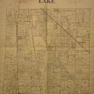 Map of Lake County Ohio, Black & White, 17 x 22 c.1930