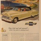 Chevrolet Auto Ad, Car on Coastal Road, Full Color c.1951