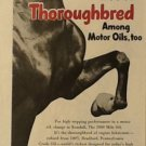 Kendall Oil Company Ad with Thoroughbred Horse, Full Color c.1951