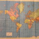Map of The World, Hammond's Global Strategy, 21 x 29, Full Color c.1950