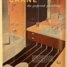Crane Plumbing Co. Ad, Classic Bathroom, Full Color c.1951