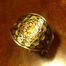 Cloisonné & Brass Cuff Bracelet, Six Colors, India c.1950
