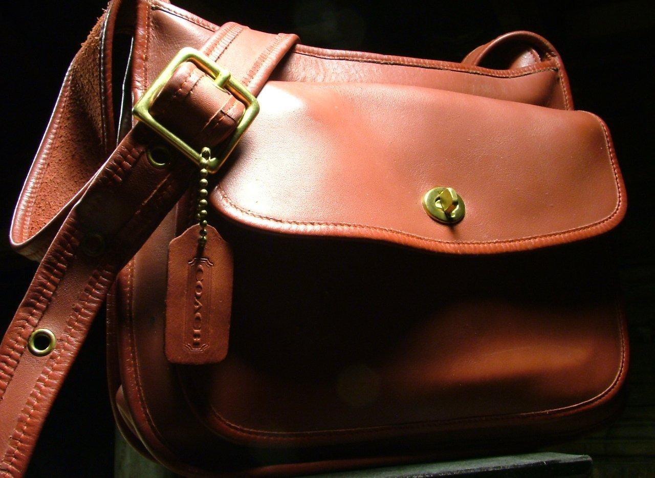 Vintage Coach Rambler Bag, Large Red Leather Purse