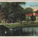 Orlando Florida Postcard, The Swans on Lake Lucerne c.1930