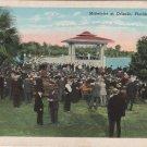Orlando Florida Postcard, Band Concert on Lake Eola, Full Color  c.1930