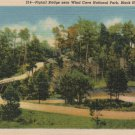 Vintage Black Hills South Dakota Postcard, Pigtail Bridge Near Wind Cave National Park c.1939