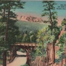 Vintage Black Hills South Dakota Postcard, Pigtail Bridge on Iron Mountain Road c.1939