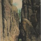 South Dakota Postcard, Big Tunnel on Needles Highway, Custer State Park c.1939
