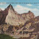 South Dakota Postcard, Badlands National Park, East of the Black Hills, Full Color c.1939