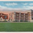 Macon Georgia Postcard, Miller High School & Gymnasium, Full Color c.1939