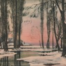 Glorious Winter by Alfred Couturaud, Pictorial Review Color Print c.1926