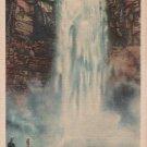New York Landscape Postcard, Taughannock Falls in The Finger Lakes Region, Full Color c.1934