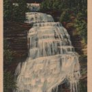 New York Landscape Postcard, Chequaga Falls at Montour Falls, Full Color c.1936