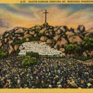 Riverside California Postcard, Easter Sunrise Services at Mt. Rubidoux, Full Color c.1932