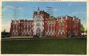Rhode Island Postcard, Providence College, Full Color c.1915