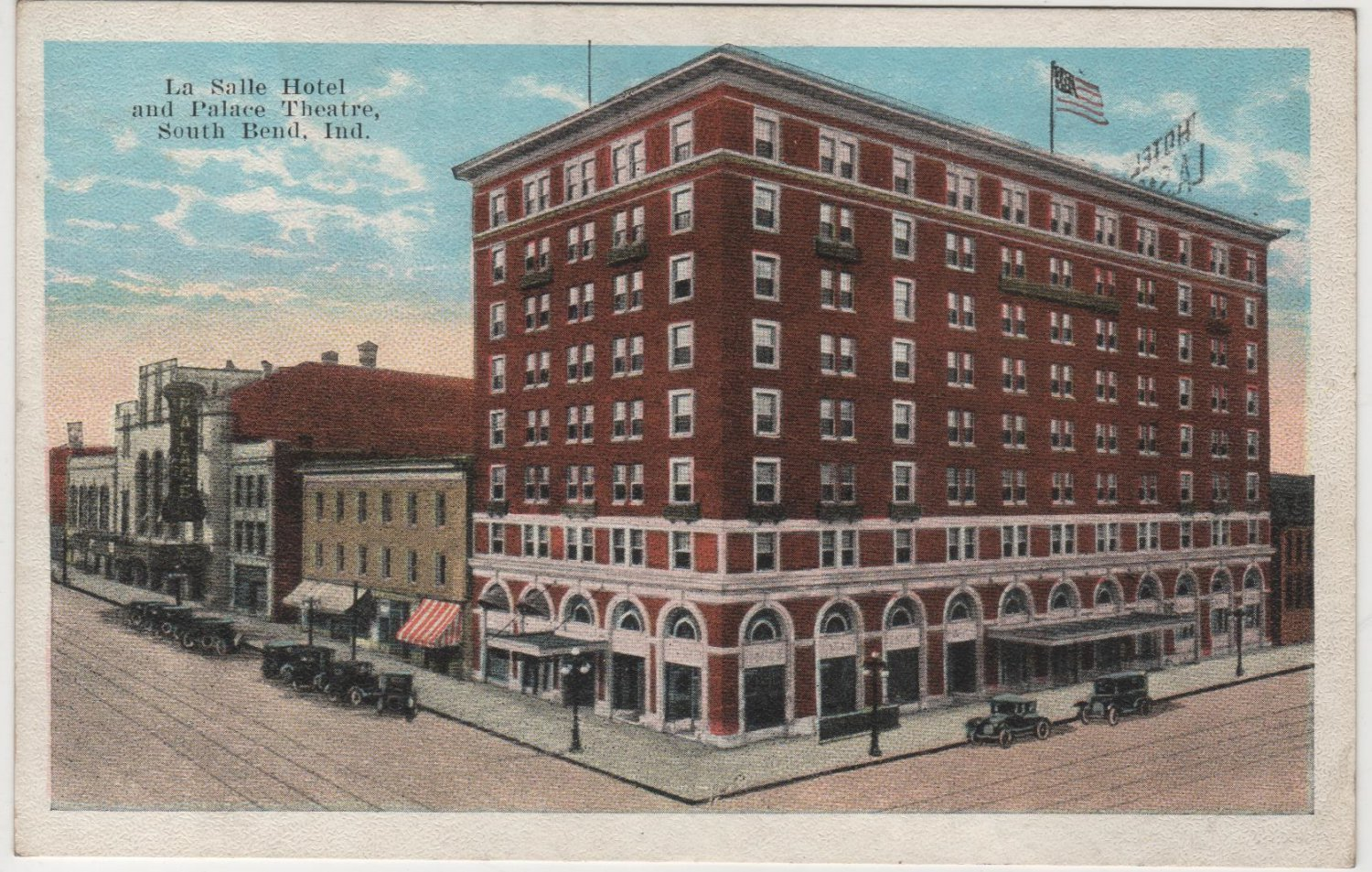 south bend indiana postcard la salle hotel and palace. Black Bedroom Furniture Sets. Home Design Ideas