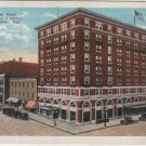 South Bend Indiana Postcard, La Salle Hotel and Palace Theatre, Full Color c.1921