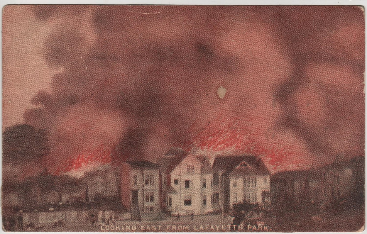 San Francisco California Cards, The Great Fire, Set of Nine c.1906