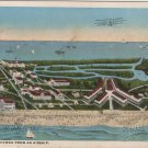 Cedar Point Ohio Postcard, View From An Airship, Full Color c.1930